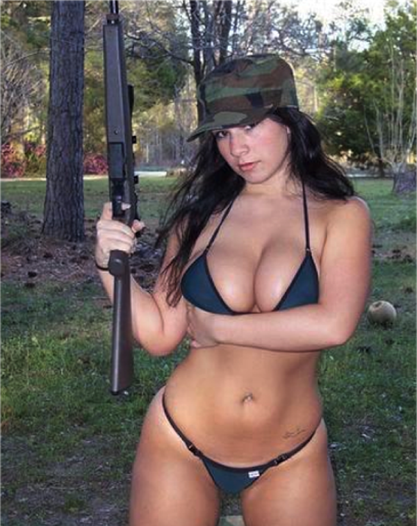 nude hairy women with guns